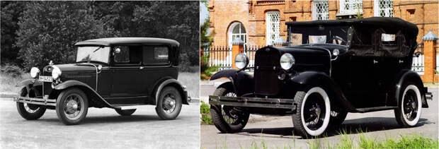 Ford Model A, 1927 — ГАЗ А, 1932