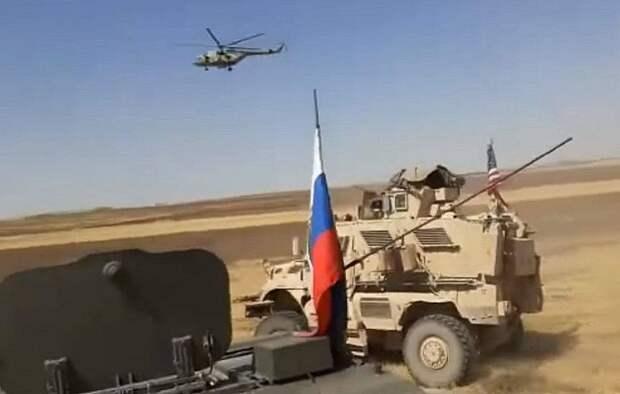 Русские гоняют американцев по сирийским полям