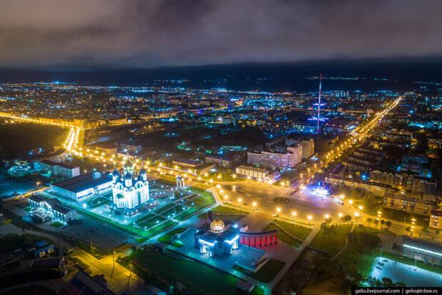 Южно-Сахалинск с высоты — город с японским наследием