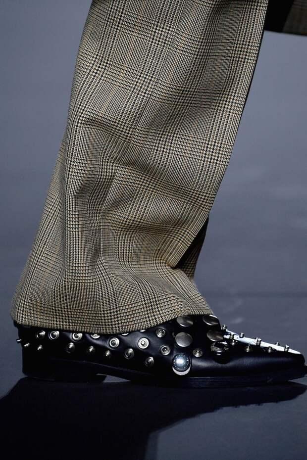 Ботинки с узким носком и заклепками Sonia Rykiel