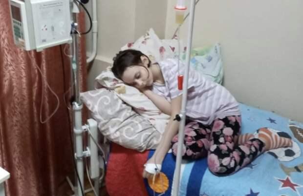 Маленькая Анна-София Кобернюк активно борется с раковой опухолью