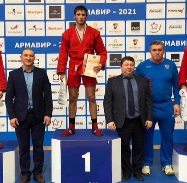 В Армавире золотую медаль по самбо завоевал Хакуй Амир