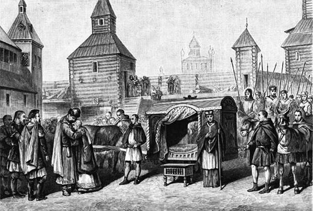 М. Клодт. Отъезд княжны Анны во Францию для венчания с королем Генрихом I