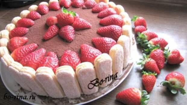 Торт «Клубничное лукошко»
