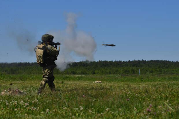В Подмосковье на полигоне Алабино прошли боевые стрельбы гранатометчиков Таманской мотострелковой дивизии ЗВО
