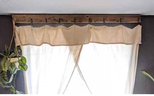 Кантри шторы на крючках
