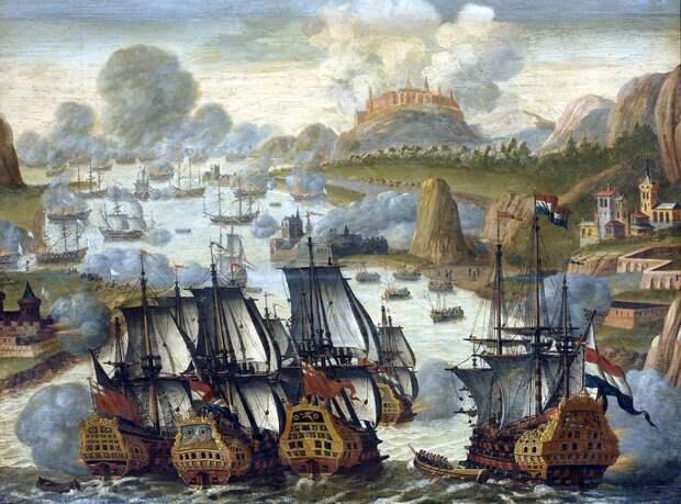 Атака англо-голландского флота в бухте Виго - Великие крейсерские войны: драка за испанское наследство   Военно-исторический портал Warspot.ru