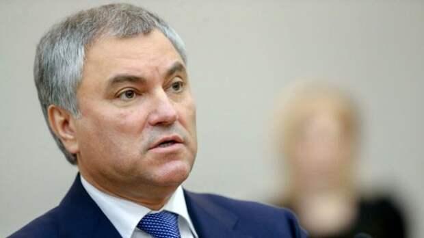 Володин: Врио МИД Чехии отказался отпоездки вРоссию под давлением США