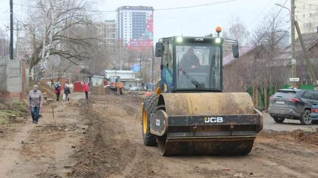 Дорожный ремонт в Ижевске начался с переулка Спартаковского