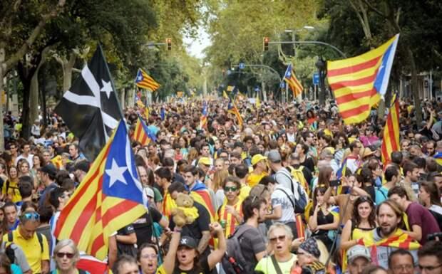 В Испании начались массовые выступления за независимость Каталонии
