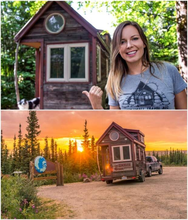 Благодаря крошечному дому Дженна Спесард открыла свой бизнес и занимается любимым делом в любом понравившемся месте. | Фото: tinyhousegiantjourney.com.