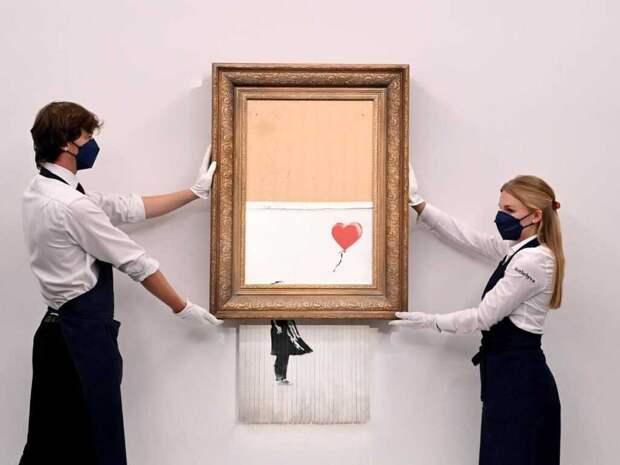 Разрезанная картина Бэнкси «Девочка с воздушным шаром» продана за $25 млн