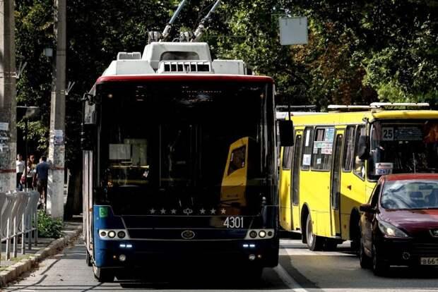 В Симферополе из-за дорожных работ два троллейбуса изменили свои маршруты
