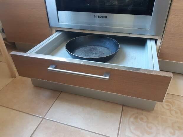 Только к 40 годам поняла что не правильно использовала ящик под духовкой