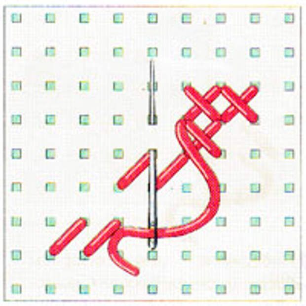 Вышивка крестиком по диагонали. Двойная диагональ слева направо (фото 11)
