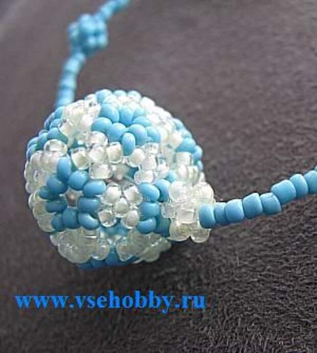 Бусина шарик фуреллен из бисера своими руками