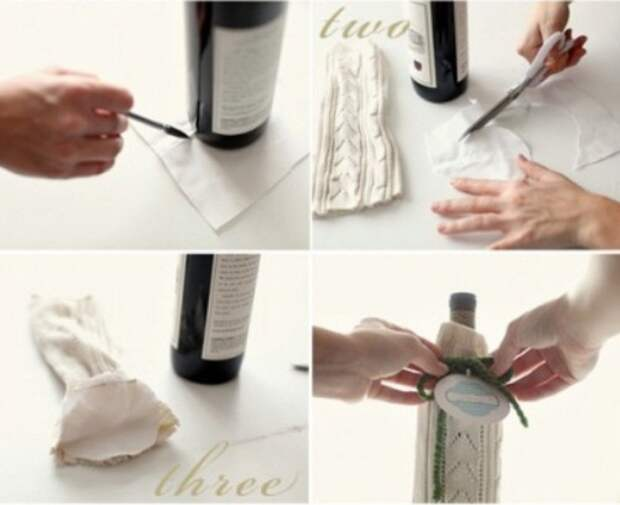 Как сделать мешочек для вина из старого свитера: пошаговая инструкция.
