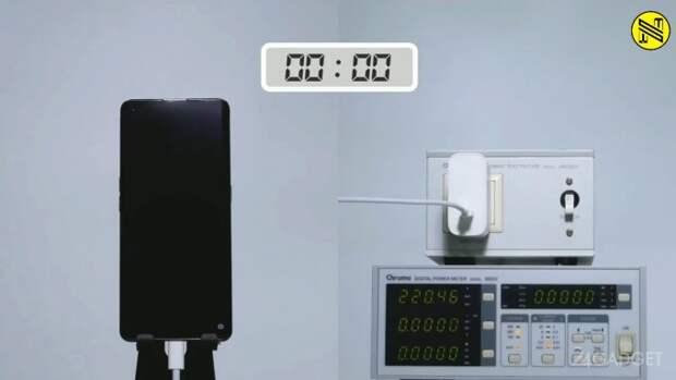 На видео показали реальную работу зарядного устройства OPPO Super Flash Charge мощностью 125 Вт