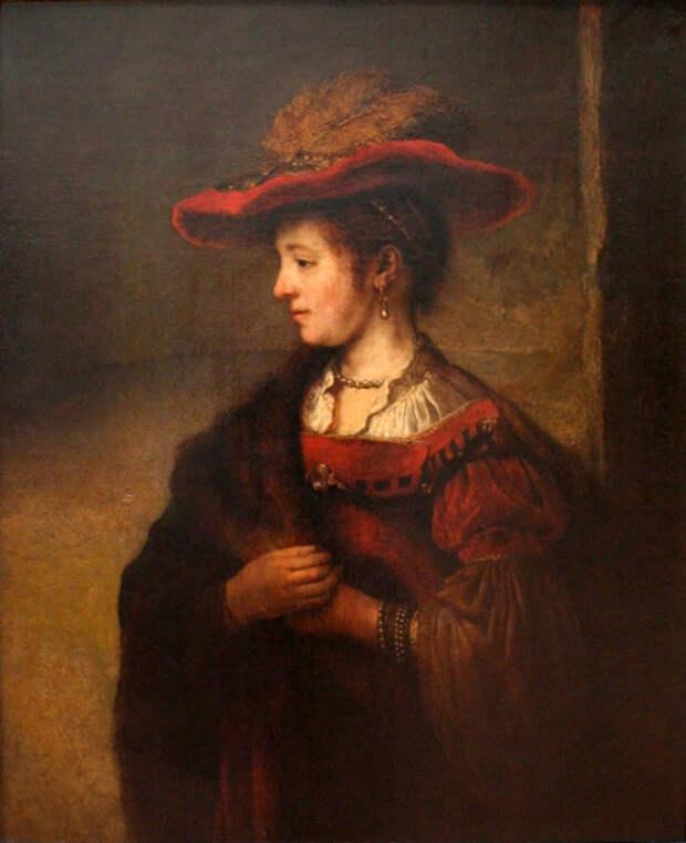 Портрет молодой Саскии, Рембрандт. / Фото: wikimedia.org.