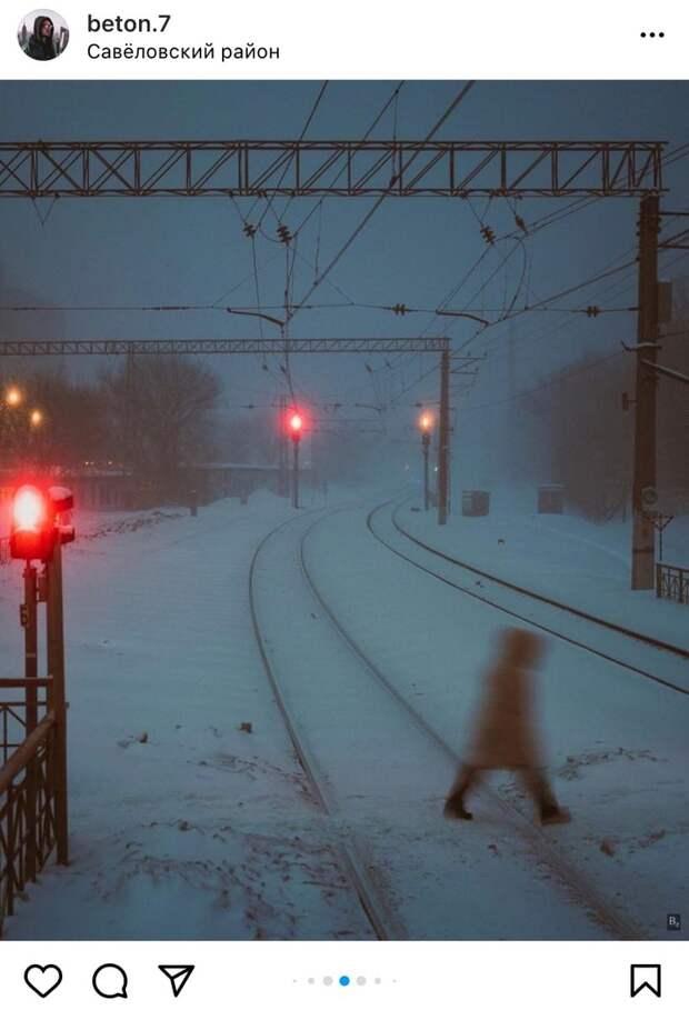 Фото дня: неонуаровая станция «Гражданская»