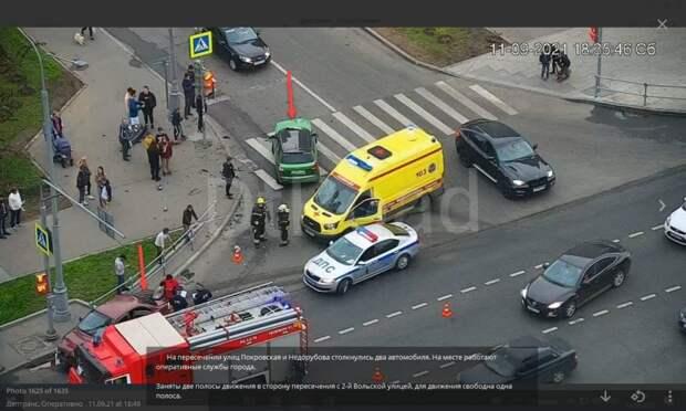 Виновниками пробки в Некрасовке оказались два состыковавшихся автомобиля