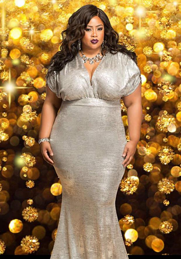 Платья на Новый год 2019 для полных дам.