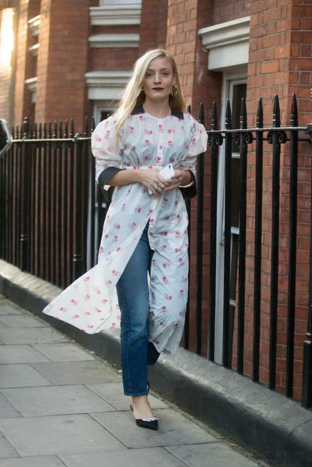 Платье рубашка как накидка (трафик)