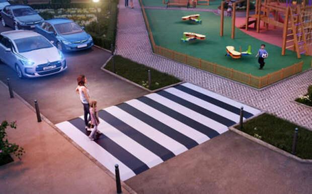 Минтранс хочет приподнять «зебры» над дорогой