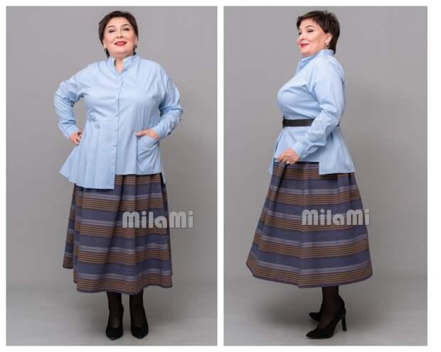 "Фото 7 - голубая рубашка + юбка ""MilaMi""."