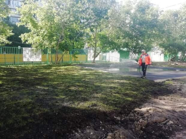 На Декабристов заменят асфальт и восстановят газон