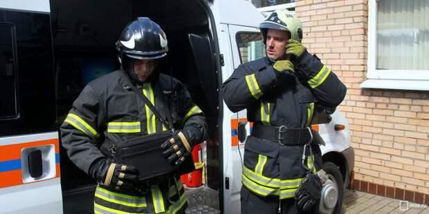 Пожарные ликвидировали возгорание на Беговой