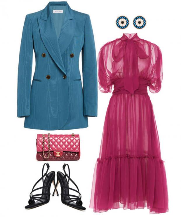 Элегантно сочетаем пиджак и платье в модных сетах