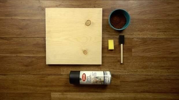 Простейший способ окрасить дерево при помощи обычного кофе