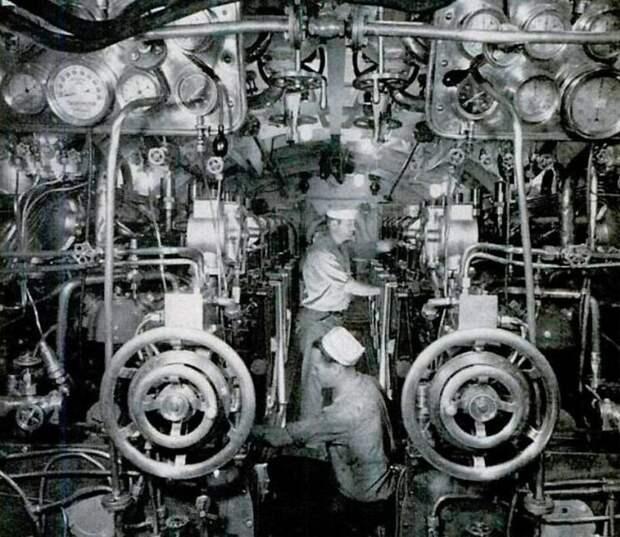 Внутри американской дизельной подводной лодки, 1939 год. армия, подводные лодки, флот