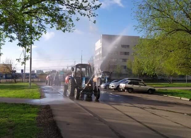 В Алтуфьево продезинфицировали общественные пространства
