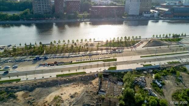 Бочкарев назвал сроки реконструкции набережной Марка Шагала в Москве