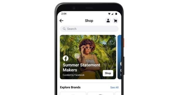 Facebook запустил вкладку Shop в мобильном приложении