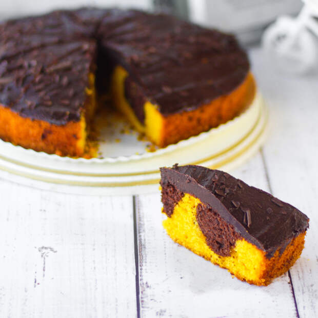 Шоколадно-тыквенный пирог. \ Фото: cheese-cake.ru.
