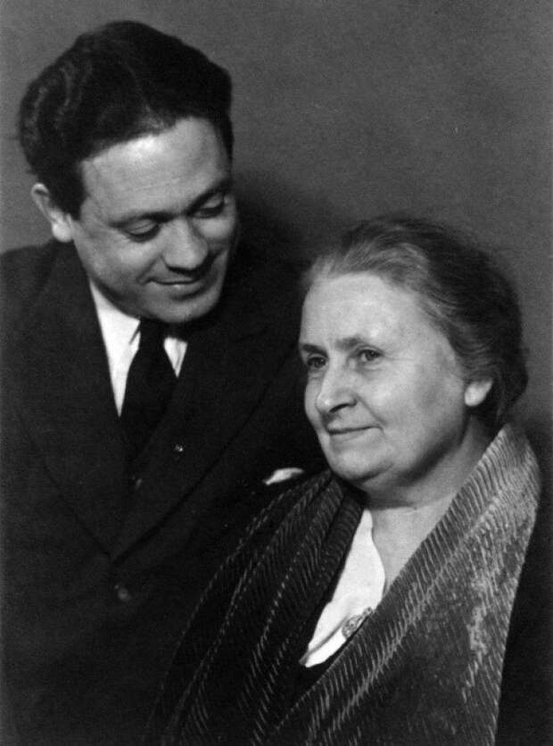 Мария Монтессори с сыном