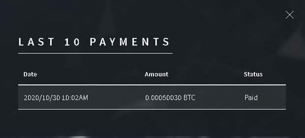 Выплата 50030 сатошей с крана bitcoinfaucet.space
