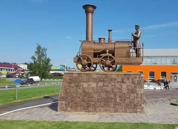Еще один памятник Черепановым Памятник, Паровоз, Черепановы, Ногинск
