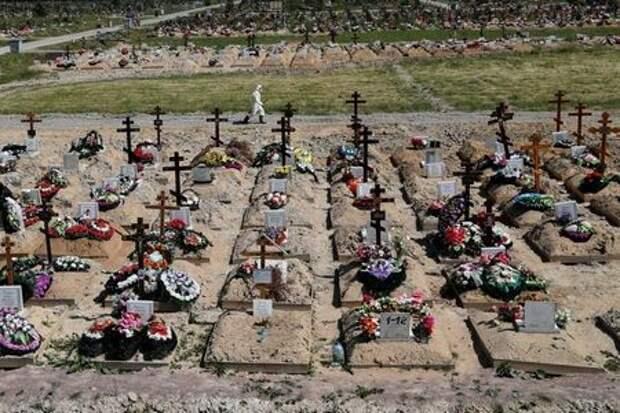 Кладбище на окраине Санкт-Петербурга, Россия, 26 июня 2020 года. REUTERS/Anton Vaganov