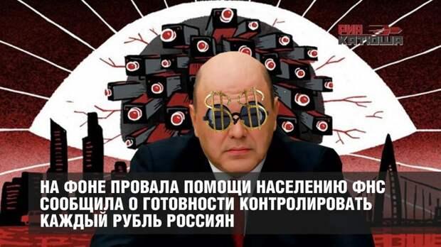 На фоне провала помощи населению ФНС сообщила о готовности контролировать каждый рубль россиян
