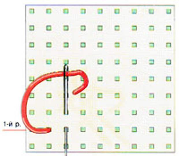 Вышивка крестиком по диагонали. Двойная диагональ слева направо (фото 1)