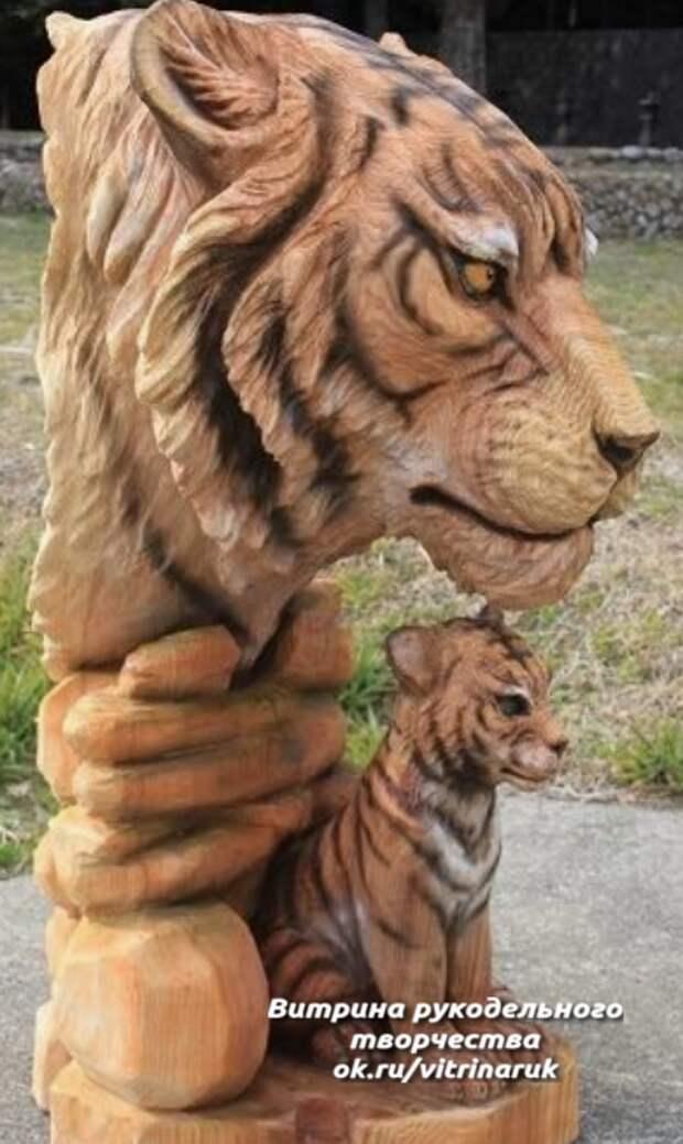 Скульптуры животных из дерева. Восхищаюсь талантом мастеров!