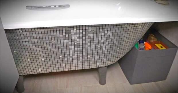 Шикарная ванная с помощью доступных материалов за считанные минуты