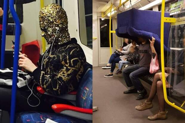 10+ случаев, когда люди встретили необычных и странных попутчиков в метро
