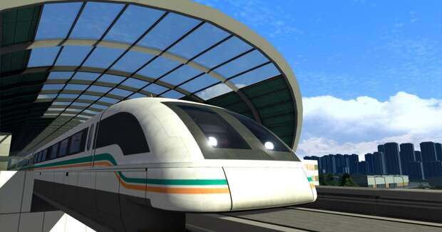 Китайские ученые показали прототип поезда, разгоняющегося до 620 километров в час