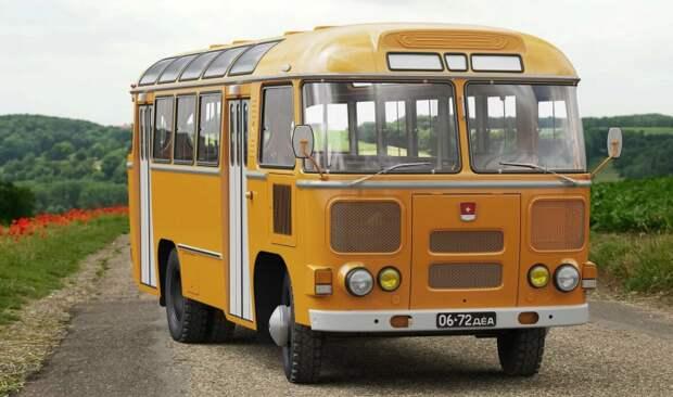 Все городские автобусы начали красить в охру, мог отличаться только оттенок / Фото: yandex.ua