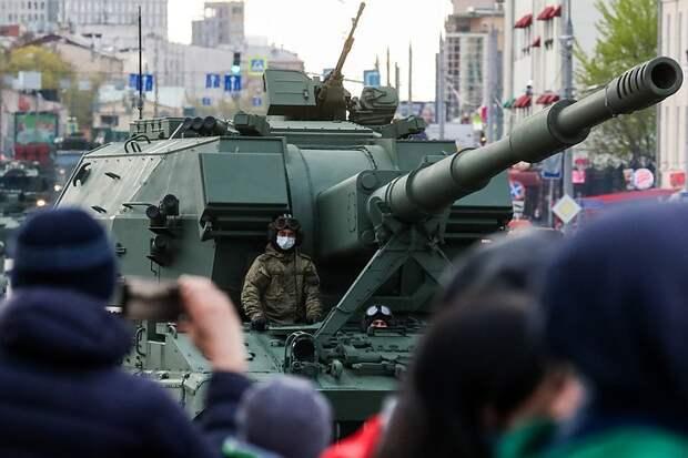В Москве проходит репетиция Парада Победы